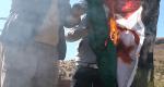 احراق علم البوليزاريو في صاغرو