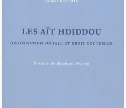 LES AIT HDIDDOU, organisation sociale et droit coutumier