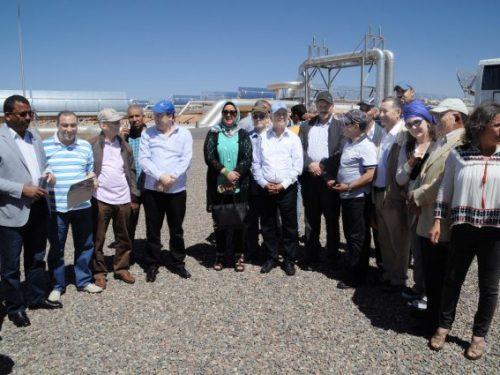 قيادة وبرلمانيو الاتحاد الدستوري يزورون محطة «نور1» للطاقة الشمسية