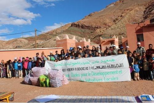 جمعية دادس للتنمية و تشجيع المبادرات المحلية في لقاء إنساني  بجماعة إمي نوولاون