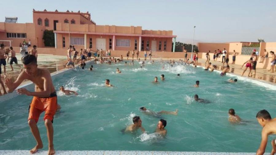 إفتتاح مسبح المركب السوسيو رياضي للقرب المندمج صنف أ ببومالن دادس في وجه العموم