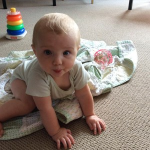 Image of a Baby Preparing to Crawl