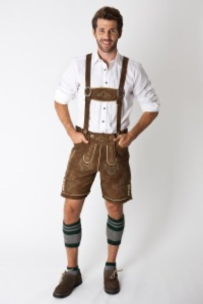 Image of man wearing lederhosen