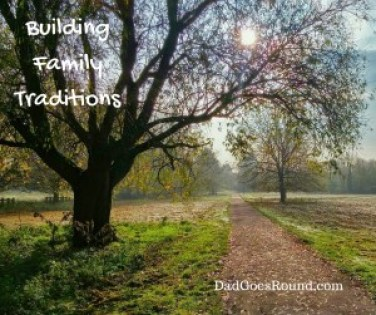 "Image of trees with text ""building family traditions"""