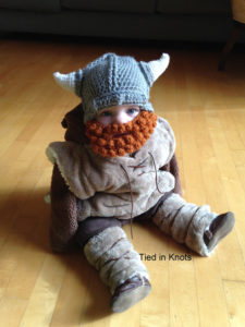 Image of a baby viking hat from Tied in Knots Crochet