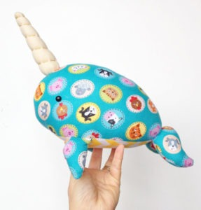 Image of a plush narwhal from Little Luckies2
