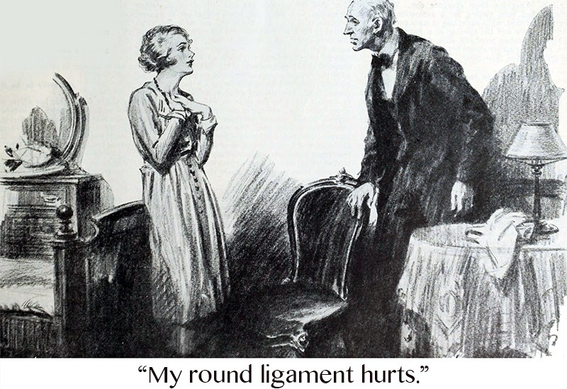 """My round ligament hurts."""
