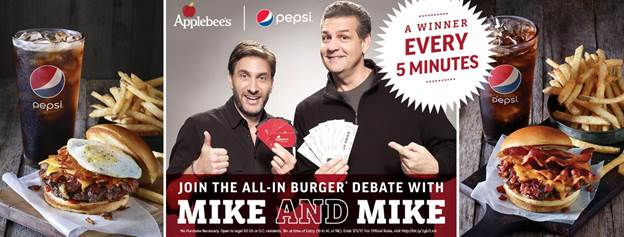 Applebees Mike and Mike Giveaway