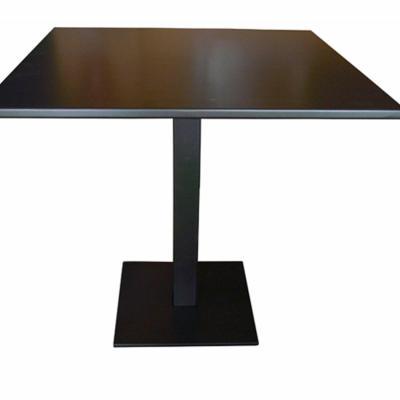 Mesa Q con sobre de plancha pintado gris manganeso 70x70cm