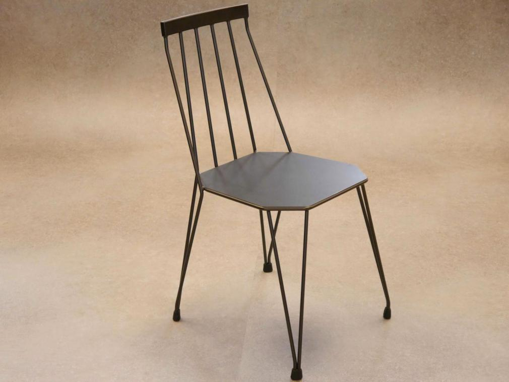 Silla Teia asiento plancha pintado en manganeso