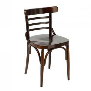 Silla Tronchet asiento tablero acabado nogal oscuro