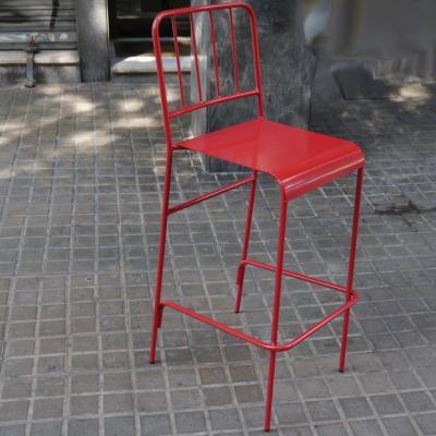 Taburete Abadia Metalico pintado Rojo
