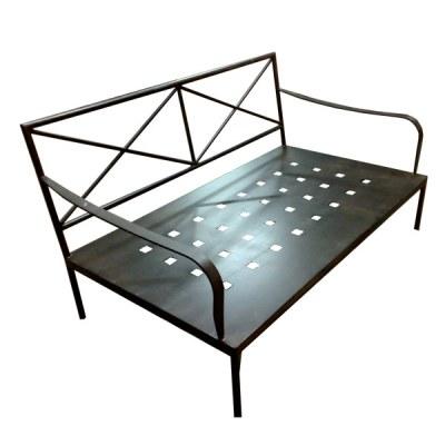 Sofa de hierro acabado pintado oxido 2 plazas 160x80