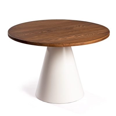 Mesa Conat con sobre de madera maciza de roble envejecida de 120