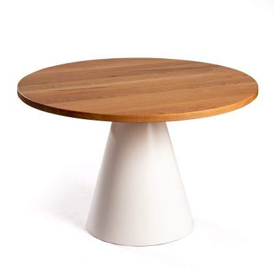 Mesa comedor Conat con sobre de madera maciza de roble de 120
