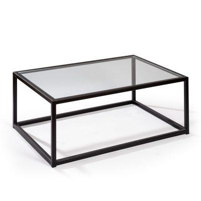 Mesa de centro cubo cristal