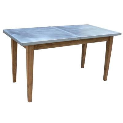 Mesa de comedor en madera y zinc