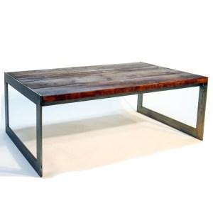Mesa de centro six pasamano y madera