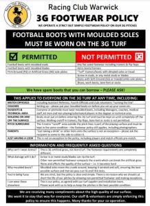 PLAY Football Warwick Footwear rules 1
