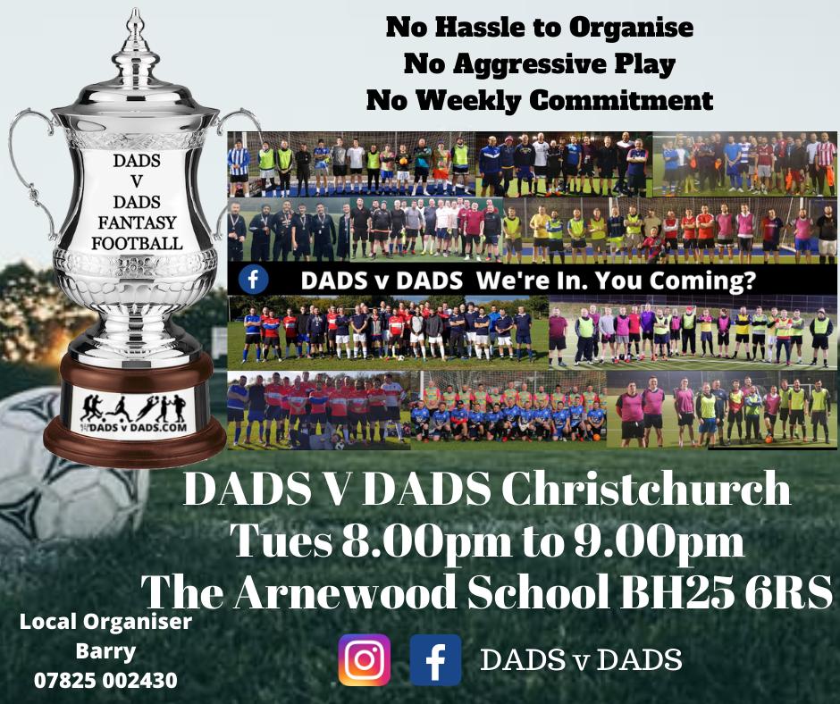 Play Football Christchurch DADS v DADS Arnewood School Academy