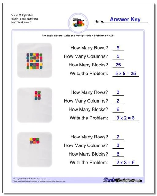 844 Free Multiplication Worksheets For Third Fourth And