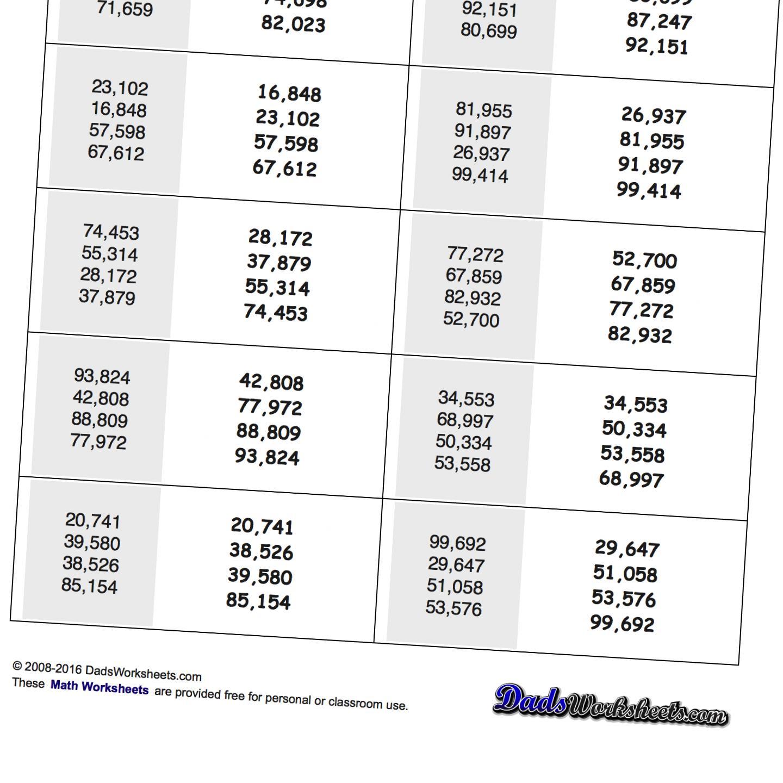 Ordering Numbers To 10 Worksheet
