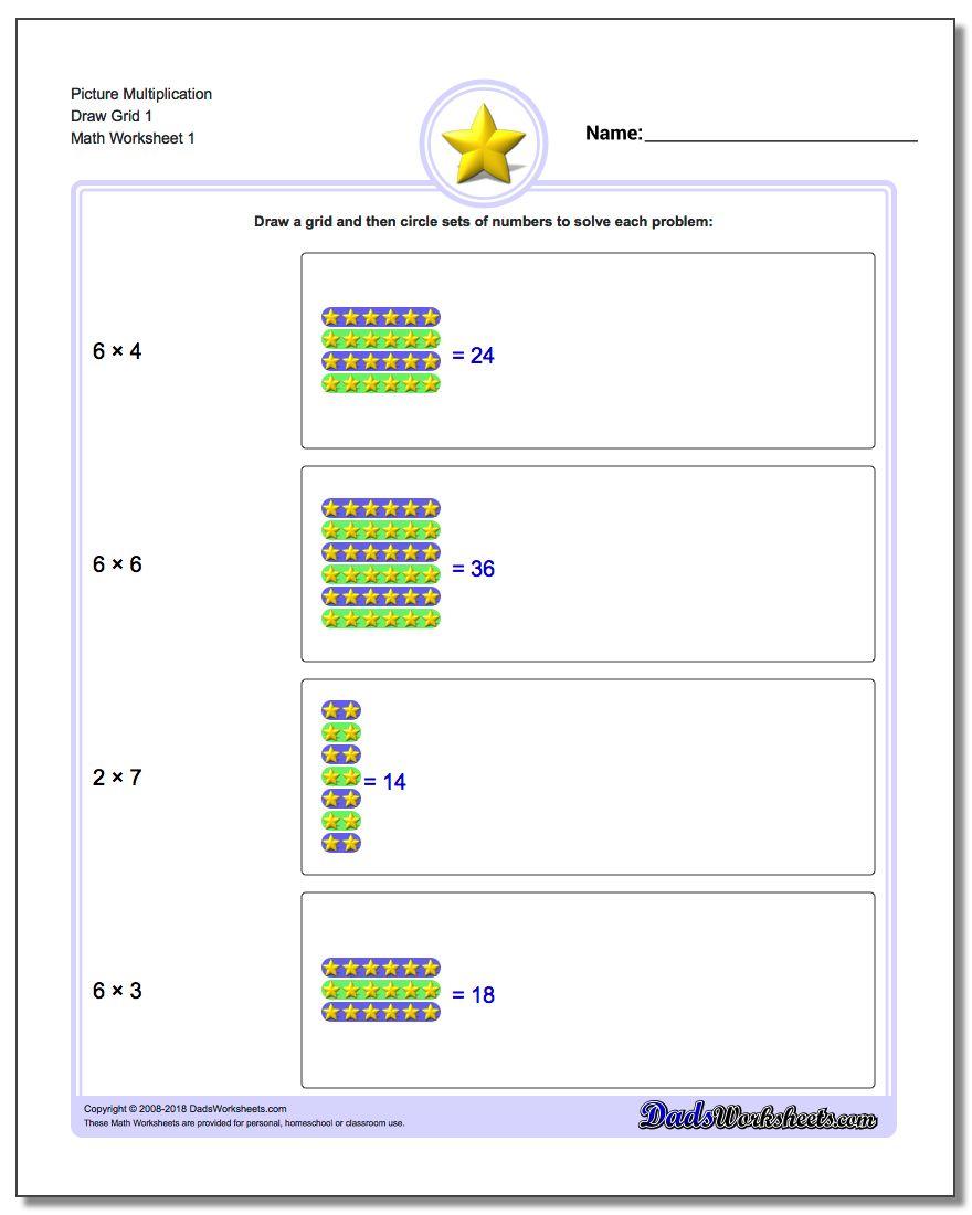 Multiplication Draw Grid