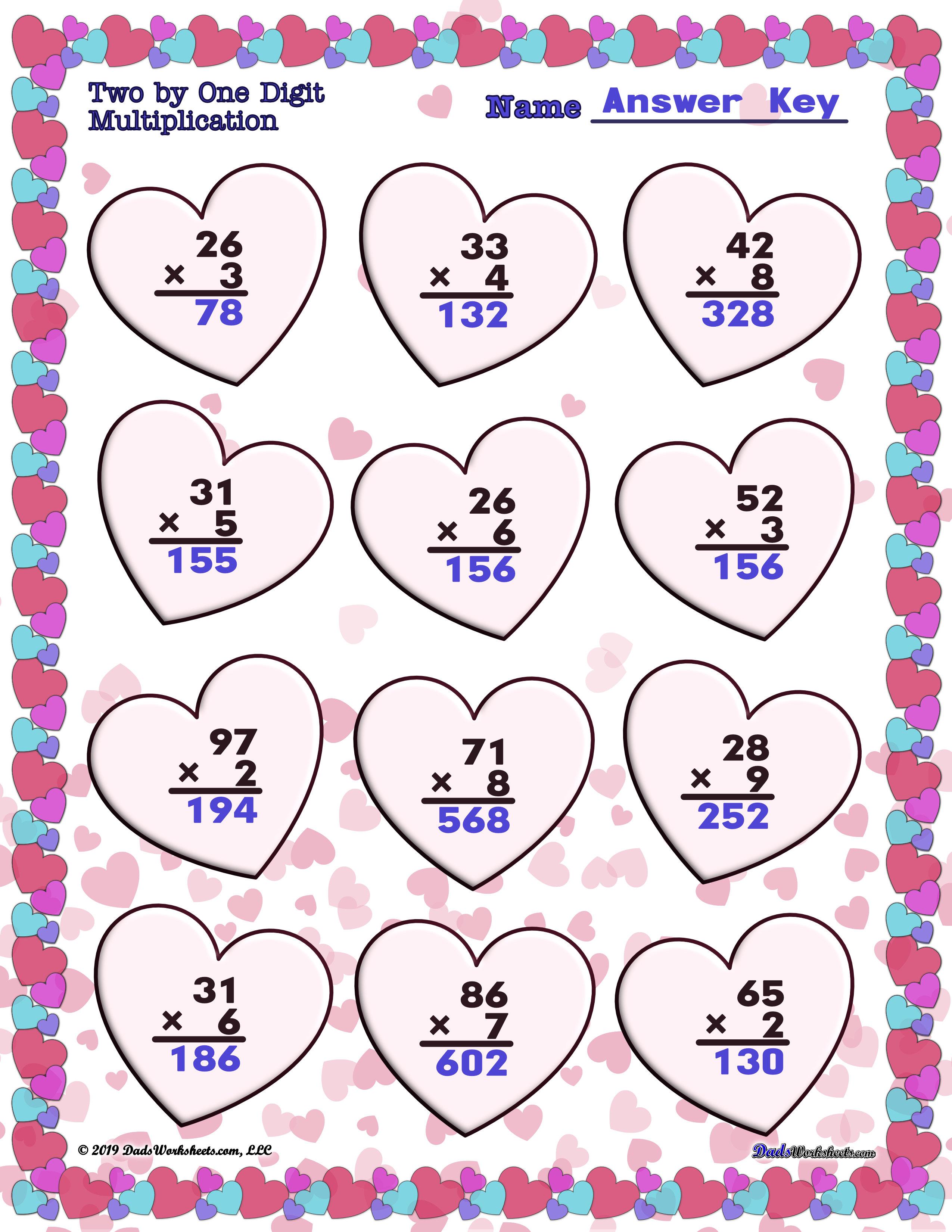 Valentine S Day Worksheets To Make Math Fun