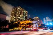 Night Time Street View - Hilton Ft Lauderdale Beach Resort