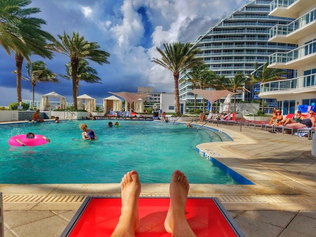 Relaxing by the Pool - Hilton Ft. Lauderdale Beach Resort