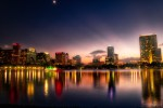HDR Photography - Impressive Downtown Orlando Sunset