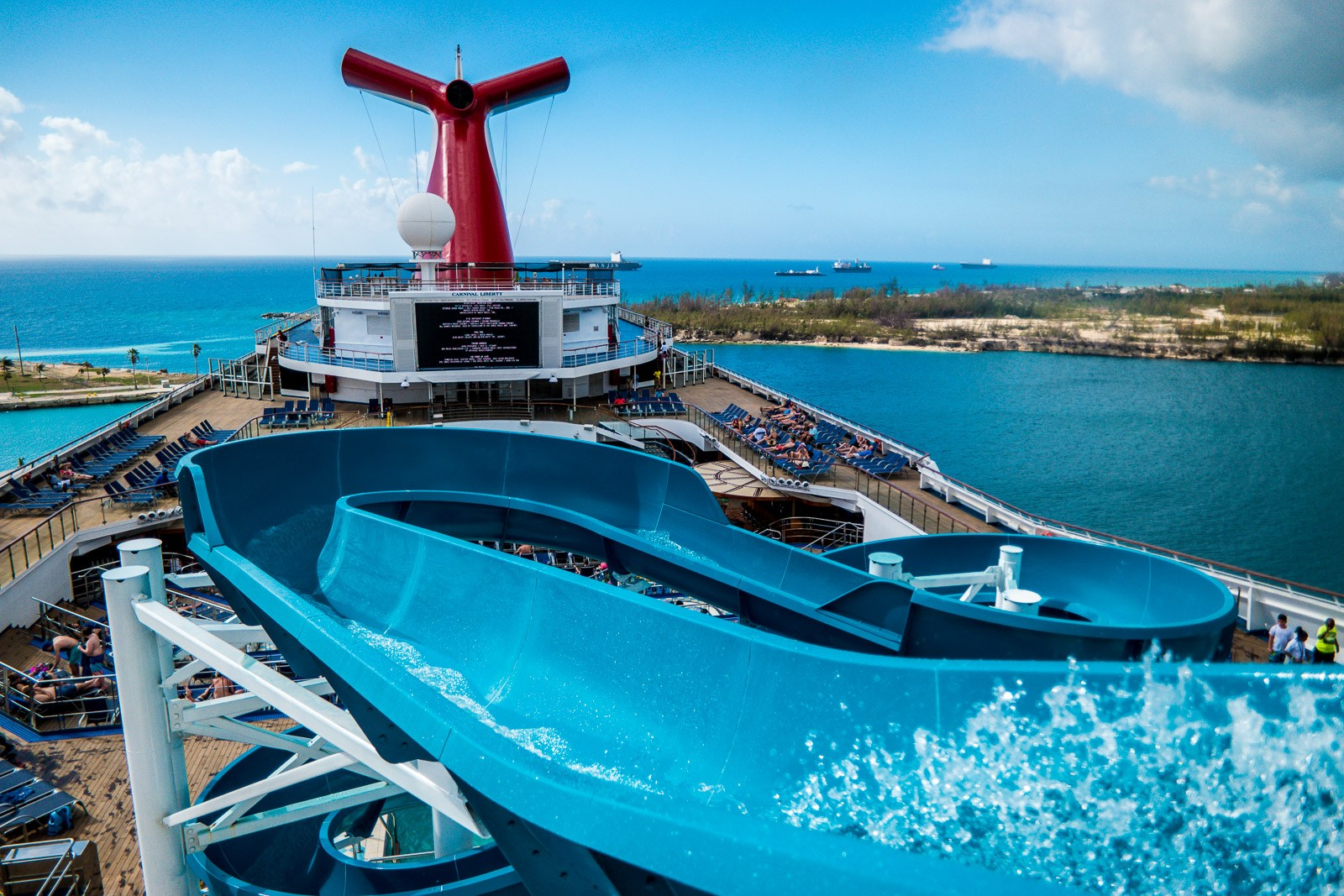 """Carnival Liberty Review - Outside Deck """"Twister"""" Water Slide"""