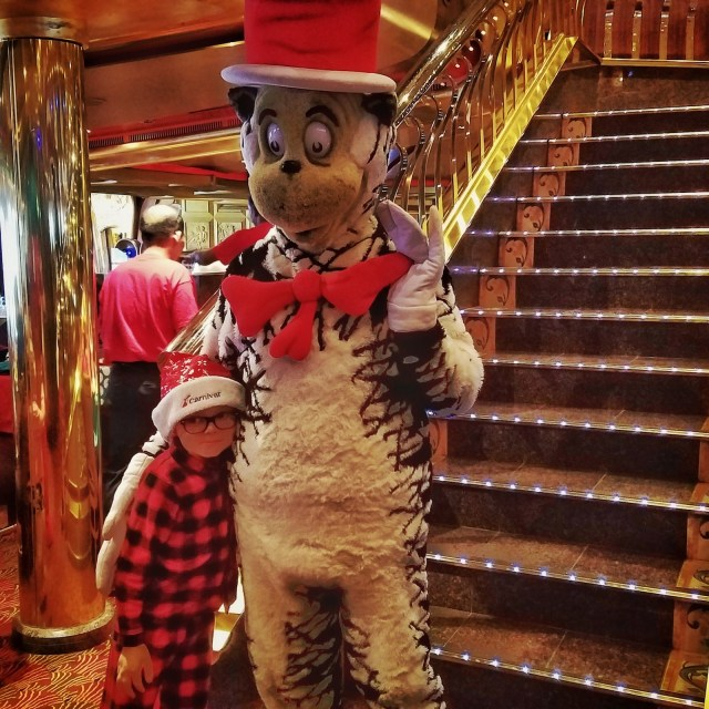 Carnival Liberty Review - My son with the Cat in the Hat
