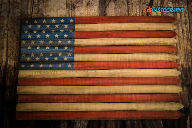 Ritz Carlton Orlando - Wood Painted American Flag