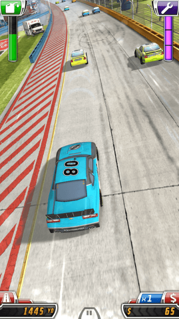 That's Me Racing in NASCAR Acceleration Nation App