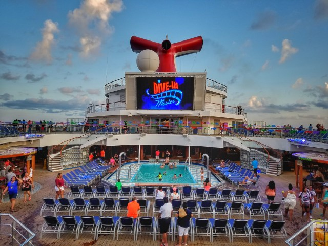 Carnival Liberty - Dive-in Movie Night