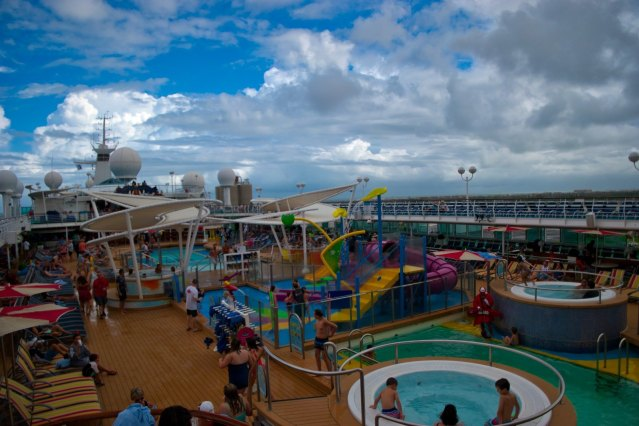 Royal Caribbean Majesty of the Seas - Overlooking Sundeck