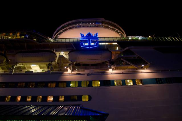 RCI Logo From Below - Royal Caribbean Majesty of the Seas
