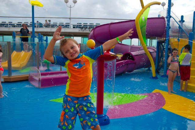 Royal Caribbean Majesty of the Seas - My Son at the Waterpark