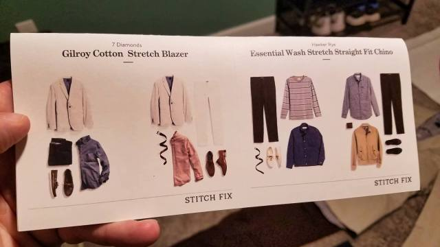 Stitch Fix Review - Product Look Book