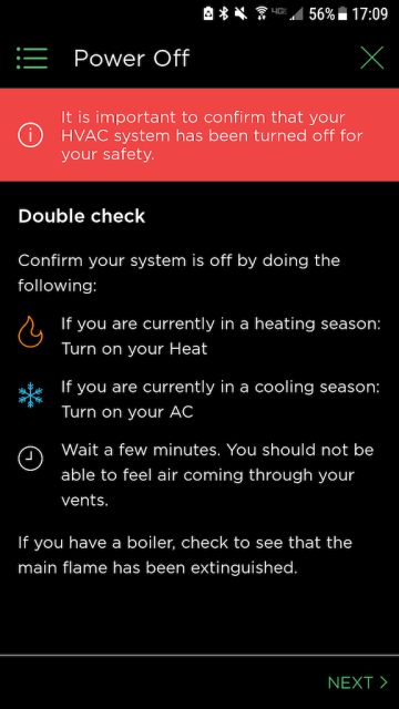 Double Check Power - Ecobee Mobile App Install Steps - Ecobee4 Review