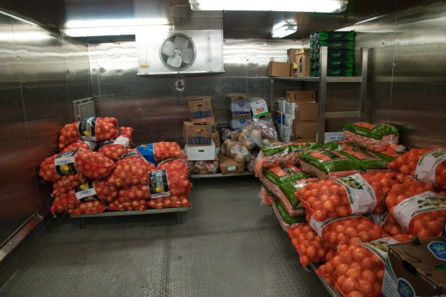 Behind the Scenes Ship Tour - Produce storage area