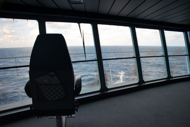 Behind the Scenes Ship Tour - Captain's chair?