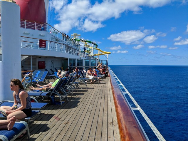 Vast ocean meets the deck on the Carnival Sunshine Ship