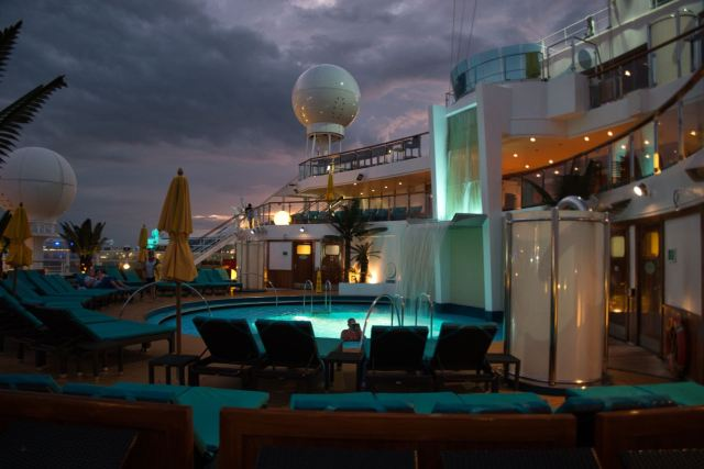 Serenity Deck looking serene on the Carnival Sunshine Spring 2018
