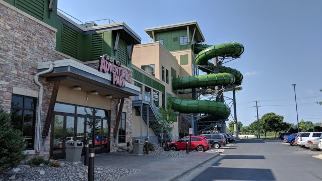Great Wolf Lodge Review - Exterior View of Waterslides