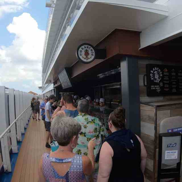 Guys Pig and Anchor Has Two Lines - Carnival Horizon