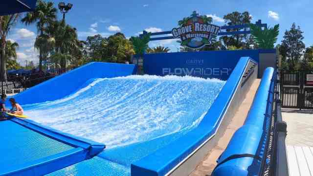 The Grove Resort Orlando Review - Surfari Water Park - View of the Flowrider