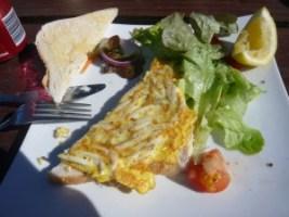Omelette au whitebail