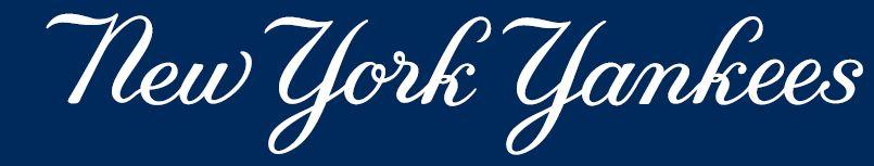 Font York Logo New Yankees
